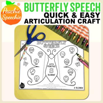 Butterfly Speech - Articulation Butterflies! Craft for Speech Therapy