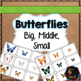 Butterfly Spring themed math sorting
