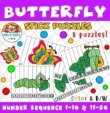 Butterfly Stick Puzzles Nursery and Kinder