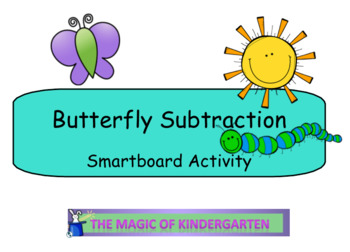 Butterfly Subtraction Smartboard Activity