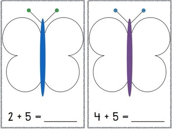 Butterfly Task Cards Addition and Subtraction
