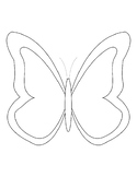 Butterfly Templates Butterfly Coloring Pages Butterfly Outline Butterfly For Art