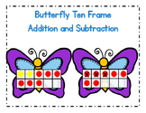 Butterfly Ten Frame Addition and Subtraction