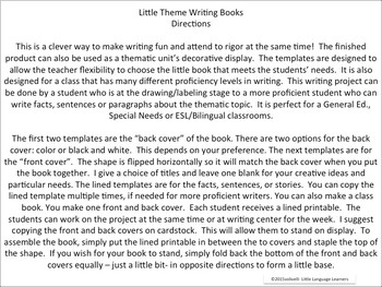 ESL Resources: Writing Book Template-Butterfly