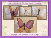 Butterfly-Thematic Writing Book Template