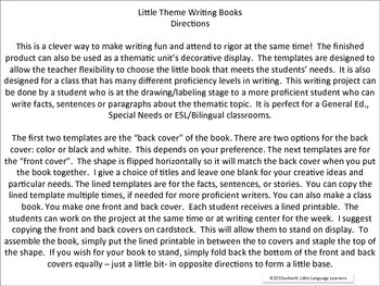 ESL Resources: Butterfly Thematic Writing Book Template 2-ELL Newcomers Too!