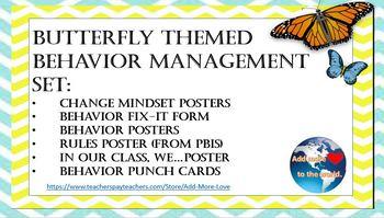 Butterfly Theme Behavior Management Set