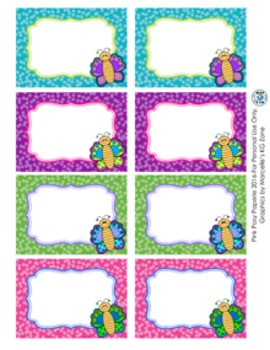 Butterfly Theme Classroom Decor Bin Labels