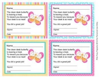 Butterfly Theme Clean Desk Awards