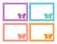Butterfly Theme Polka Dot Cubby Labels