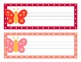 Butterfly Theme Polka Dot Desk Name Plates
