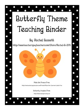 Butterfly Theme Polka Dot Teaching Binder Organization
