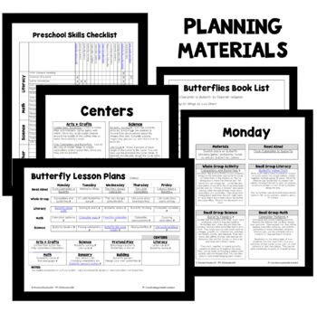 Butterfly Theme Preschool Classroom Lesson Plans