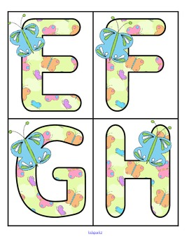 Butterfly Alphabet - FREE
