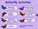 Butterfly Theme - Traditional Math & Language Arts - Smart
