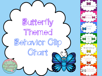 Butterfly Themed Behavior Clip Chart