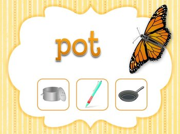 Butterfly Themed Game: Find the CVC Picture Game (Smartboard/Promethean Board)
