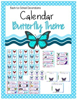 Butterfly Themed Calendar Set