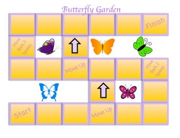 Butterfly Themed Game Board