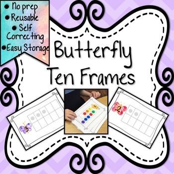 Butterfly Themed Ten Frames