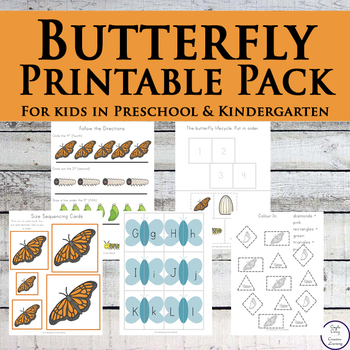 Butterfly Tots to Prep Pack