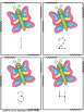 Butterfly Tracing Cards: Numbers 1-20 Number Words 0-10