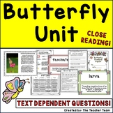 Butterfly Unit | Reading Comprehension Passages and Questions