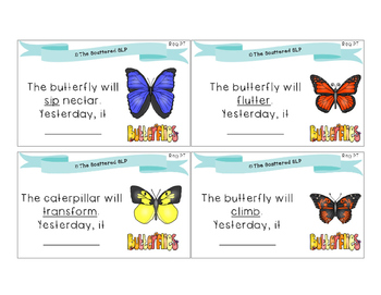 Butterfly Verbs and Adjectives - Task Cards