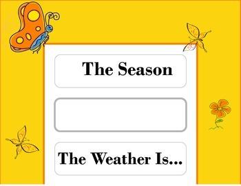 Butterfly Weather Chart! Butterfly Theme! Butterfly Bulletin Board! Spring!