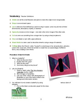 Butterfly Wing: Simply Symmetry Visual Arts Lesson for Kindergarten to 2nd Grade