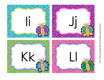 Butterfly Word Wall Headers