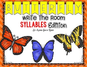 Butterfly Write the Room - Syllables Edition