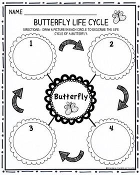 Butterfly Writing Activities:  Life Cycle, Butterfly Facts, Writing Prompt