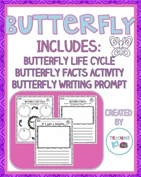 Butterfly Writing Activities:  Life Cycle, Butterfly Facts