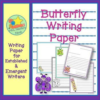 Writing Paper Butterfly