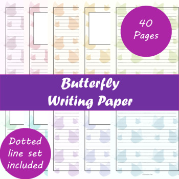 Butterfly Writing Paper
