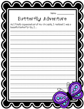 Butterfly Writing Prompt FREEBIE!