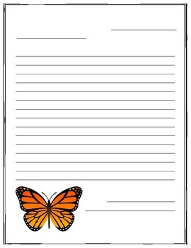 Butterfly Writing Template