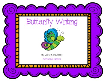 Butterfly Writing Unit (graphic organizers, craftivity, easy reader, and more)