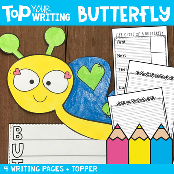 Spring Writing - Butterfly Writing Papers with Topper