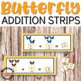 Butterfly Addition Strips for Math Centers or Hands-on Activities