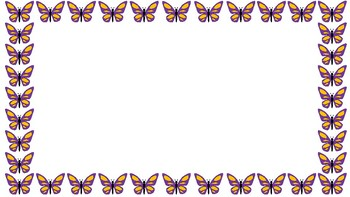 Butterfly and Bumblebee borders