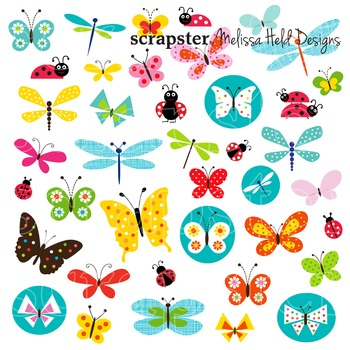 Clipart: Butterfly and Ladybug Clip art