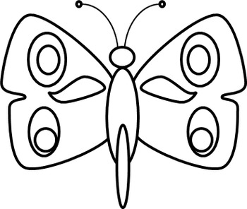 ~Butterfly and Moth Clip Art~ Color your Own and Already Colored!!