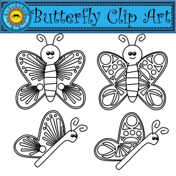 Butterfly clipart - 300 dpi