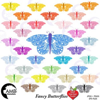 Butterfly clipart, Moth clipart, Insect Clip Art, {Best Teacher Tools} AMB-1454