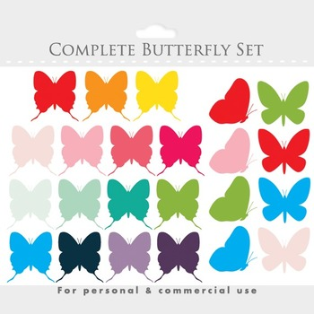 Butterfly clipart - butterflies clip art, spring, insects,