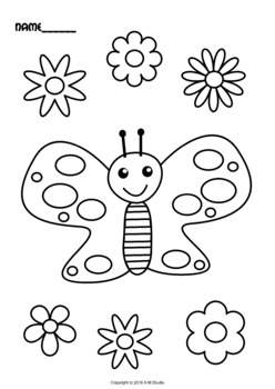 Butterfly coloring book