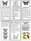 Butterfly fact bookmarks