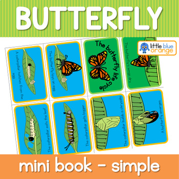 Butterfly life cycle mini book (simplified version)